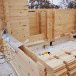 Строительство бани из Двойного бруса