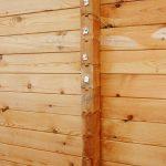 стена, сухой профилированный минибрус 75 мм
